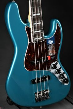 Fender® American Elite Jazz Bass® - Ocean Turquoise/Ebony Fingerboard