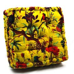 Velvet Floor Pillow Lime, $35, now featured on Fab.