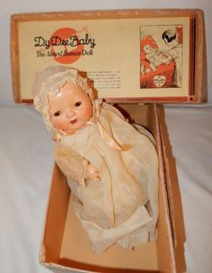 Rare Vintage Effanbee Dy Dee Baby Doll with Box & Clothes 1934