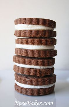 Brownie Cookie Sandwiches Stacked Recipe