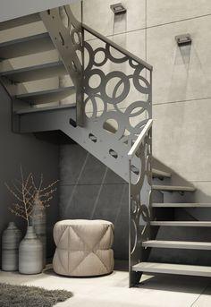 Model schodów Stella idealnie sprawdzi się we wnętrzach, w których dominuje surowy, industrialny styl. Schody podkreślają miejski charakter, a w połączeniu ze szklaną balustradą nadają pomieszczeniu delikatności.