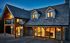 Oak Frame House, Sliders, 1, Cabin, Mansions, House Styles, Board, Home Decor, Decoration Home