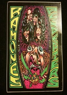 "Ramones ""Acid Eaters"" Sticker / Postcard 
