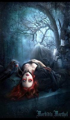 DeviantArt: More Like Cruel love by Vampire-Romance-Club Arte Horror, Gothic Horror, Horror Art, Dark Fantasy Art, Fantasy Girl, Dark Gothic Art, Gothic Vampire, Vampire Art, Female Vampire