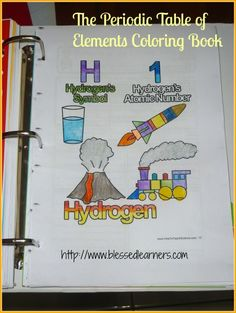 The Periodic Table of Elements Coloring Book would be a great resource for students doing the Atomic Attire project from ScienceWear.net
