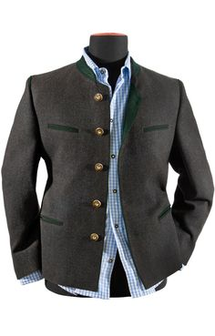 Traditional Trachten Jacket Stachus anthracite