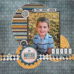 pinterest scrapbook layouts for boys | boy layout