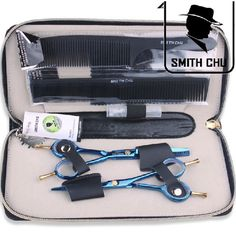 SMITH CHU 5.5 inches Professional barber scissors hairdressing scissors, hair cutting tool combination package HM87 #Affiliate