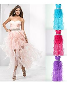 Show off Your Flirt Prom Dress. This beautiful dress combines short and long into one unique and sexy outfit! The mini dress combined with the lengthy organza ruffles will give him the perfect peak to keep him looking while still guessing!