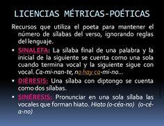 Licencias Métricas-Poéticas Ap Spanish, Literature, Language, School Ideas, Google, Texts, Figurative Language, Vocabulary, Reading Comprehension