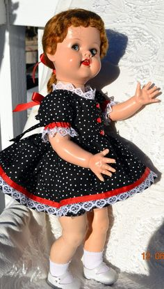 1950's Saucy Walker 22 inch walking doll with by ForgottenMoments, $125.00