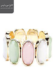 STRETCHY FACET BEAD BANGLE Gemstone Rings, Bangles, Gemstones, Beads, Jewelry, Bangle Bracelets, O Beads, Jewellery Making, Bracelets