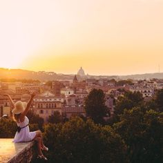 polkadotpassport - Watching the sun set over Rome could not have been more perfect.