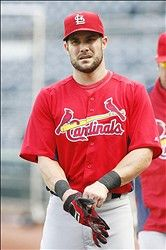 Skip Schumaker at BP before the game 8-28-12