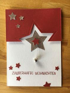 Weihnachtskarte Selbst Gemacht Sterne