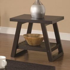Coaster Occasional Group Casual End Table with Slatted Bottom Shelf - Coaster Fine Furniture