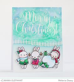 Hi all! Today I want to share with you my card for Mama Elephant Stamp Highlight Pix's Happy Holiday . This stamp set is so cute and full of...