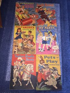 Humpty Dumpty Lot Of Six  Paint coloring books copyright 1941  | eBay