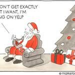 Christmas Humor   Santa theatens to go on #Yelp   Tom Fishburne (tomfishburne) on Twitter
