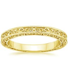 18K Yellow Gold True Heart Ring from Brilliant Earth