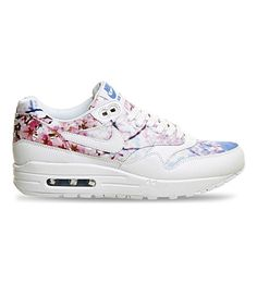 NIKE Air Max 1 Printed Leather Trainers. #nike #shoes #trainers