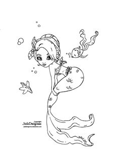 This lineart was made for who won a special request by participating in the 2014 Summer coloring contest. It is inspired by her beautiful daughter who m. Pin up Mermaid Mermaid Coloring Pages, Cute Coloring Pages, Fairy Coloring, Coloring Books, Pin Up Mermaid, Free Adult Coloring, Dragon, Digi Stamps, Colorful Pictures