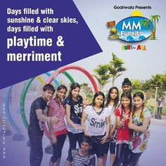 Days filled with #sunshine and clear #skies, days filled with #playtime and #merriment. Hope you enjoy these carefree days at #MMFunCity. For More: https://goo.gl/Su9dWZ #WaterPark #Chhattisgarh #Raipur