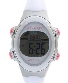 DW327H grigio chiaro della cassa dell'orologio Cronografo Data retroilluminazione bianca Bezel orologio digitale