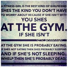 A Fitness Girlfriend....