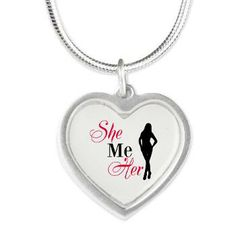 She Me Her Silver Heart Necklace
