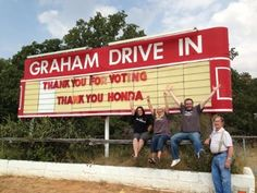 Graham Drive-In, Graham Texas won't go dark, thanks to Honda and Project Drive-In.  (PRNewsFoto/Honda) Loved everything about this campaign!