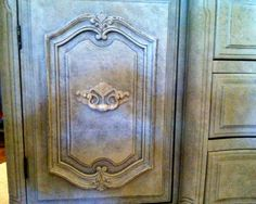 close-up of French dresser
