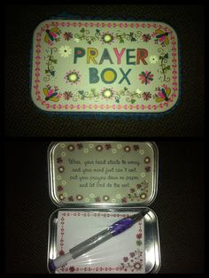 Although I already have two of these (one that I made at bible study and another that I purchased at Rosemary Beach), I definitely would not mind DIYing up another prayer box!!!You can never have too much prayer, and a prayer box is a encouragement for frequent prayer and chats with the Lord! Love the idea