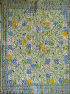 Cute Baby Boy Quilt with vintage Pooh & Company :)