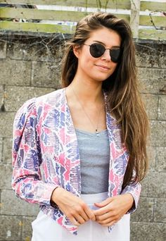 27de2548497 Vintage+Laura+Ashley+Pastel+Pattern+Jacket Laura Ashley 80s