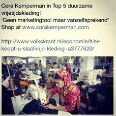 CoraKemperman in top5! U koopt hier u slaafvrije kleding
