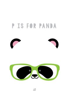 UBER cute Print from #LostBumblebee ©2014 P is for Panda #FREEPRINTABLE This would be super cute in a little persons room!