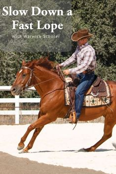 Slow Down a Fast Lope You want your horse to lope calmly in easy strides. This bending exercise will enable you to slow down a fast lope. Equestrian Boots, Equestrian Outfits, Equestrian Style, Equestrian Problems, Equestrian Fashion, Horse Riding Tips, Horse Tips, Trail Riding, Western Horse Riding