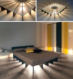 modern underlit bed design