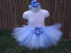 Blue tutu Cinderella tutu costume dress up by LittleMissRileys, $25.00
