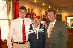 WWII veteran and Olympic athlete Louis Zamperini with Jeff Krieger '12 and the Headmaster. (September 2011)