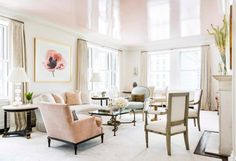 You won't believe this home transformation completed by designer, CeCe Barfield Thompson including before and after photos of a New York City pied-à-terre. Formal Living Rooms, Living Spaces, Living Area, Living Room Furniture, Living Room Decor, Dining Room, Glamour Living Room, Ideas Hogar, Living Room Inspiration