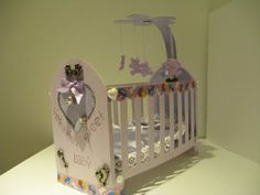 Ruelysicreativecards.....: 100% Cricut, 3D Crib using George and basic shapes