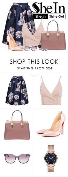 """""""Shein.com - Contest!"""" by asia-12 ❤ liked on Polyvore featuring Christian Louboutin, MaxMara, Marc by Marc Jacobs and Oravo"""
