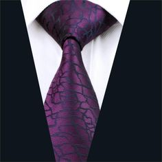 Men Silk Tie Purple Novelty Neck Tie Silk Jacquard Ties For Men Business Wedding Party