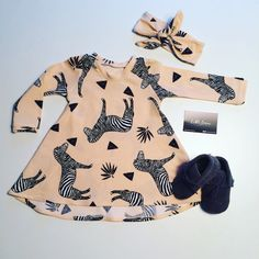 Hey, I found this really awesome Etsy listing at https://www.etsy.com/listing/484545716/girls-peachblack-zebra-t-shirt-dress