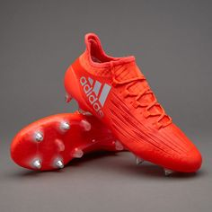 54ab254def2b47 adidas X 16.1 SG - Solar Red/Silver Metallic/Hi-Res Red. Sg Football  BootsFootball ...