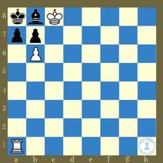Mate en 2, blancas juegan y ganan. Este problema fue compuesto por Paul Morphy cuando tenía 10 años de edad.