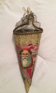 Antique Christmas Candy Container Ornament                                                                                                                                                     More