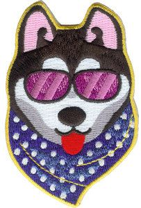 Embroidered Cool Dog Applique by PatchesStampsnMore on Etsy, $4.49